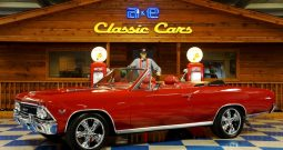 1966 Chevrolet Chevelle Convertible 502 – Red / Black