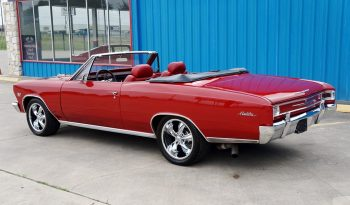 1966 Chevrolet Chevelle Convertible 502 – Red / Black full