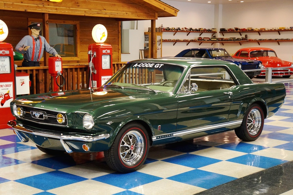 1966 Ford Mustang Gt Coupe One Owner Ivy Green A Amp E