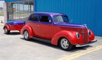 1938 Ford 2dr Sedan w/ Matching Trailer – Red / Violet Purple full
