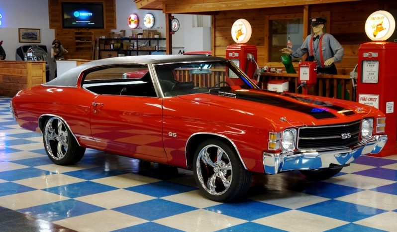 1971 Chevrolet Chevelle SS 350 w/ Build Sheet – Cranberry Red / Black full