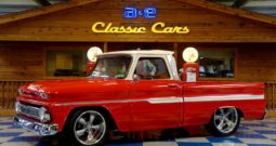 1965 Chevrolet C10 Big Window – Blue Blood Red / Adobe Beige