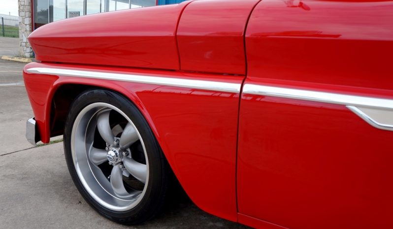 1965 Chevrolet C10 Big Window – Blue Blood Red / Adobe Beige full