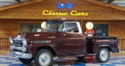1959 Chevrolet Apache 3100 Fleetside Pickup – Burgundy Metallic / Ivory