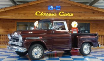 1959 Chevrolet Apache 3100 Stepside Pickup – Burgundy Metallic / Ivory