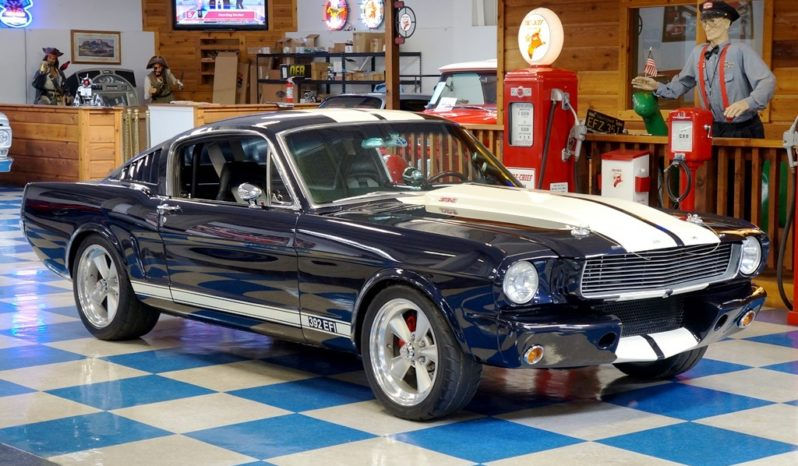 1965 Ford Mustang Fastback 392 EFI – Deep Blue Metallic / White full