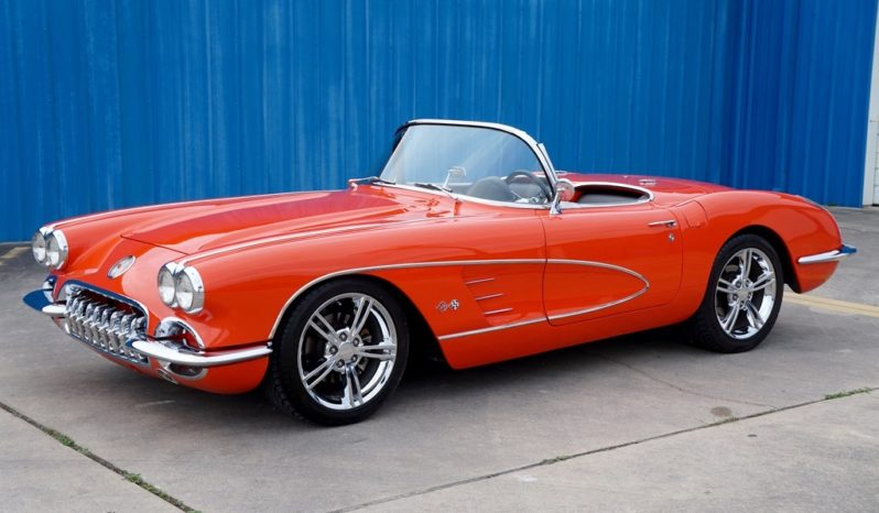 1960 Chevrolet Corvette Convertible Resto Mod LS3 – Orange / Black full