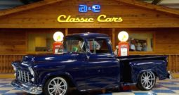 1955 Chevrolet 3100 Big Window Stepside Pickup – Mystic Blue Metallic