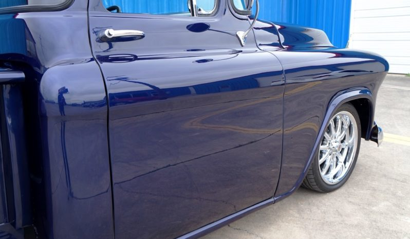 1955 Chevrolet 3100 Big Window Stepside Pickup – Mystic Blue Metallic full