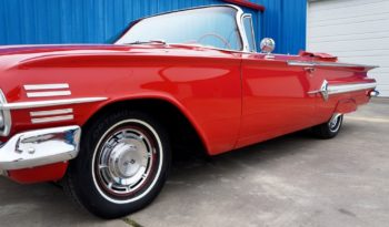 1960 Chevrolet Impala Convertible – Red / White full