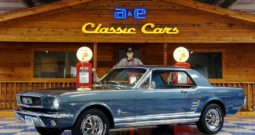 1966 Ford Mustang Coupe 5 Speed – Nightmist Blue / White