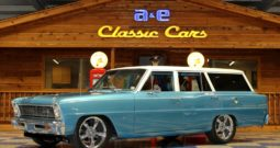 1966 Chevrolet Nova Wagon – Electric Blue / White Pearl