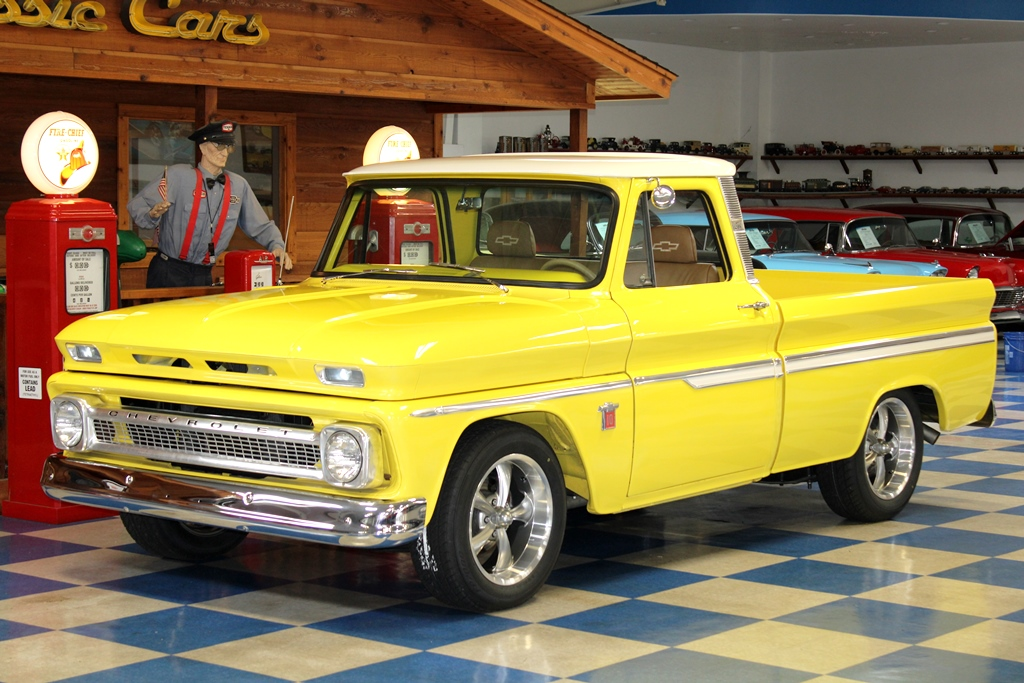 1964 Chevrolet C10 Pickup Bright Yellow White A E Classic Cars