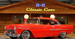 1955 Chevrolet Bel Air Resto Mod – Torch Red / Satin Charcoal