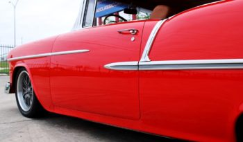 1955 Chevrolet Bel Air Resto Mod – Torch Red / Satin Charcoal full