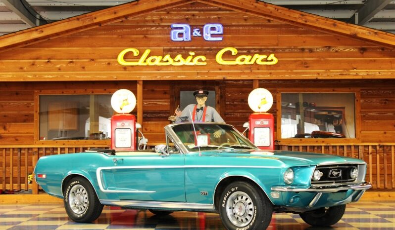 1968 Ford Mustang GT Convertible – Gulfstream Aqua / Parchment full